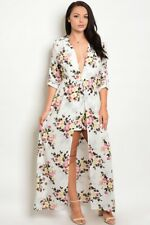Women's Plus Size Ivory Pink and Yellow Romper with Train 2X NWT