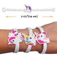 10Pcs Bracelet Animals Unicorn Horse Rubber Wristband Bangle Party Charm Gift