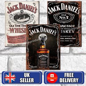 JACK DANIELS Metal Signs Vintage Retro Pub Bar Mancave Wall Poster Tin Sign UK