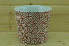 Fitz & Floyd ORIENTAL GEOMETRIC Flower Pot / Planter | Discontinued