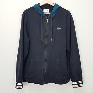 LACOSTE Sport Mens Size XXL Slim Zip Up Hooded Jacket
