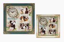 Fotouhr 55 aus Holz in 44 cm Creme oder Patina für 4 Bilder Foto Wand Uhr