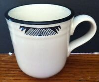 "Noritake Black & White Geometric Aspen Nights Stoneware MUG 3 3/4"" 12 OZ."