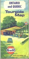 1967 Gulf Ontario/Quebec  Vintage Road Map