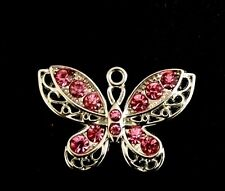 Butterfly pendant charm in pink