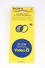 Sony vf-37m video 8 filtro kit ø37mm, 1x nd-8, 1x mc protección filtros con embalaje original