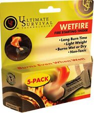 Ultimate Survival Wet Fire Tinder 5pk Non-Toxic Odorles ULT-20-1WG0412-BX5 Fresh