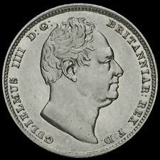 More details for 1831 william iv milled silver sixpence, a/ef