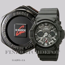 Authentic Casio G-Shock Digital X-Large Classic Black Men's Watch GA201-1A