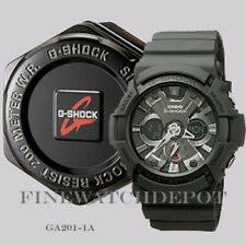 Authentic Casio G-Shock Digital X-Large Classic Black Men's Watch GA201-1A