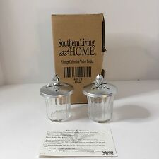 NEW Southern Living At Home Vintage Collection Votive Candle Holders Set of 2