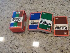 TIME The Desk Reference Library Book Set  3 Thesaurus Dictionary Atlas
