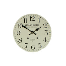 Vintage Shabby Chic Antique Wall Clock, Grand Hotel Cream