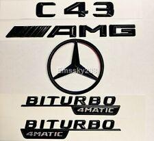 MERCEDES W205 C43 COUPE & CONVERTIBLE GLOSS BLACK C43+BITURBO+AMG+REAR STAR