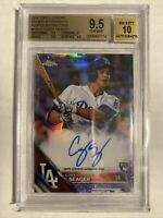 Corey Seager 2016 Topps Chrome PURPLE REFRACTOR AUTO Rookie RC /250 BGS 9.5/10