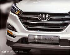 2G Brenthon Front Grill Rear Trunk 2PC Emblem Badge For 2016+ Hyundai Tucson