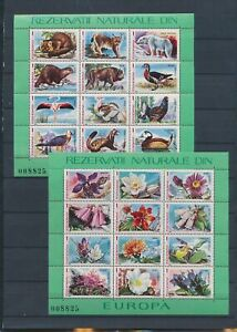 XC59530 Romania 1987 animals fauna flora wildlife sheets MNH