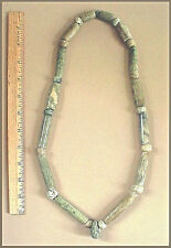 PRE-COLUMBIAN JADE GREEN STONE NECKLACE Ex: Museum Coll. COA