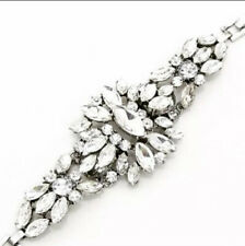 Vintage Inspired Faux Diamond Fashion Bracelet