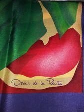 "Beautiful Vtg Oscar de la Renta Silk Scarf-Square 30""-Tropical Floral HTF-EUC"