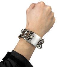 【from US】Rocker Biker Punk Cuban Curb 33mm Stainless Steel Bracelet Chain 8 inch