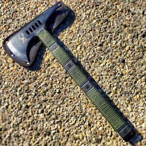 "14.5"" Tactical Hunting Tomahawk AXE Hatchet Survival AXE Long Handle w/ Sheath"