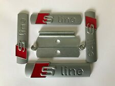 Grade B Silver S Line Badge Emblem 1 Grille 3x Stickers for Audi A1 A3 A4 B6 B8