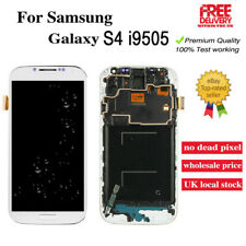 For Samsung Galaxy S4 i9505 LCD Touch Screen Digitizer + Frame Replacement White