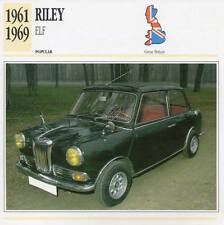 1961-1969 RILEY ELF Classic Car Photograph / Information Maxi Card