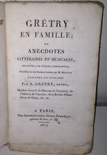 Andre Grétry En Familia O Trivia Literaria Y Musicales - Chaumerot 1814