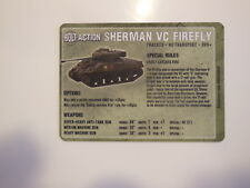 Warlord Games Bolt Action Vehicle Cards - Sherman VC Firefly