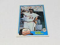 1981 TOPPS BASEBALL CARD # 490 EDDIE MURRAY Baltimore Orioles HOF NM Set Break