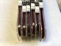 """3/8"""" Cinnamon Brown Velvet Ribbon Fabric 10 yards Made in Switzerland"""