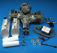 DLE120 Gasoline Engine Rear Exhaust+Electronic Ignitionor 120CC RCplane FM