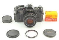 [Exc+5] Canon AE-1 SLR 35mm Film Camera w/ 50mm F/2 New FD Lens JAPAN #B030