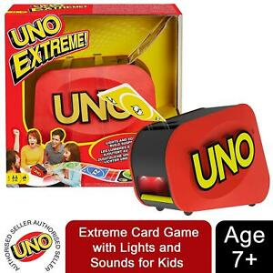UNO Extreme Card Game with Lights and Sounds for Kids