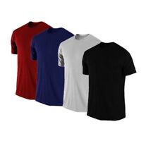 Mens Gym Football Sports Training 100% Cotton Plain Tee shirt T Shirt T-Shirt
