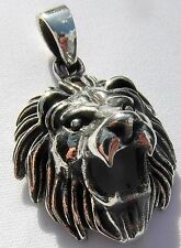 Sterling Silver (925)  Roaring  Lion  Pendant   (6 grams)  !!   New  !!