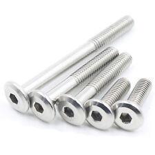 M6 stainless steel allen flat screws hex screw round head bolt furniture bolts