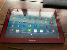 Samsung Galaxy Tab 2 GT-P5110 16GB,WLAN,(10,1 Zoll)-Metallic Rot-TOP ZUSTAND!