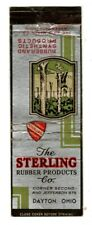 STERLING RUBBER PRODUCTS COMPANY matchcover matchbook - DAYTON, OHIO