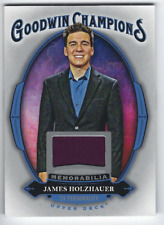 JAMES HOLZHAUER 2020 UPPER DECK GOODWIN CHAMPIONS MEMORABILIA RELIC