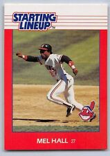 1988 Mel Hall - Kenner Starting Lineup Card - Cleveland Indians