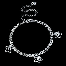 Bell Woman Anklets Bracelet Aay103 925Sterling Silver Fashion Jewelry 3 Star