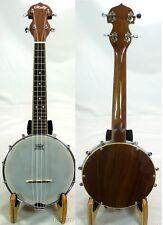 Rally Ukulele banjo,wood resonator- Aquila strings,Free hard case DUB02-L series