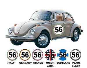 Pair Of 500mm MSA Spec Door Rally & Race Car Numbers, Country Colours or Flag