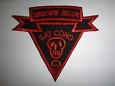 "US Special Forces AIRBORNE RECON Team ""SAT CONG"" (Kill VC) Vietnam War Patch"