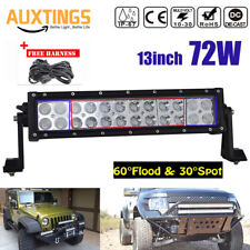 14inch 72W LED Work Light Bar Tractor Boat Off-Road SUV JEEP ATV Spot Work+Wire