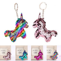 Novelty Unicorn Colorful  Keyrings - Lovely  Key Chain Christmas Gift Keyrings