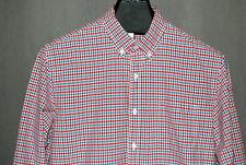 J Crew Long Sleeve Button Down Plaid Checks Casual Shirt Sz L 100% Cotton